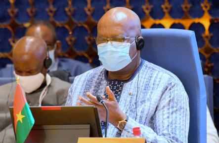 President Roch Kabore at the 57th Ordinary Session...in Niamey, Niger