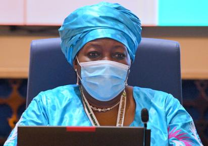 ECOWAS VP Finda Koroma at the 84th Ordinary Session of the Council of Ministers in Niamey Niger