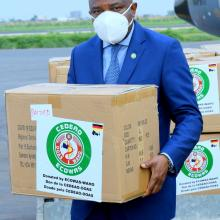 DG delivering Covid-19 medical goods and equipment